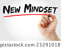 Hand writing New Mindset 23291018