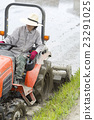 paddy, tractor, field 23291025