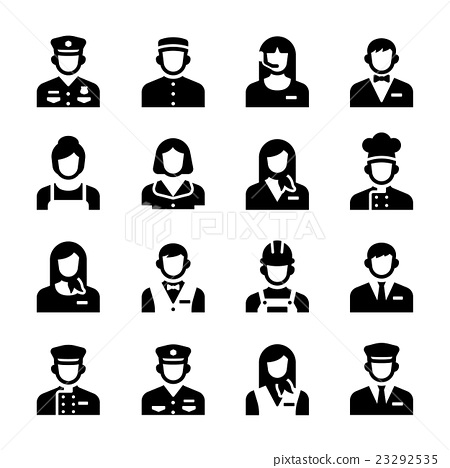 Hotel Service Staff Occupation Avatar Vector Icon