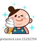 軟冰淇淋 吃 品嚐 23292704
