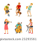 Musician cartoon characters isolated on white 23293561