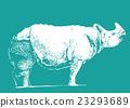 犀牛 印度犀牛 動物 23293689