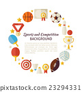Flat Style Circle Template of Sport Recreation 23294331