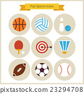 Flat Sport and Recreation Icons Set 23294708