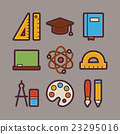 School and Education Items Modern Flat Icons Set 23295016