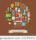 Flat Style Education and Science Objects Concept 23295031