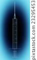 Syringe isolated on background 23295453