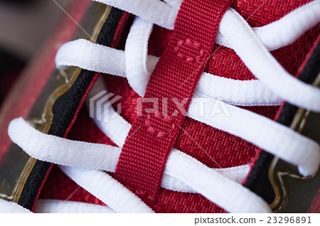 Close-up of beautiful modern red sneaker 23296891