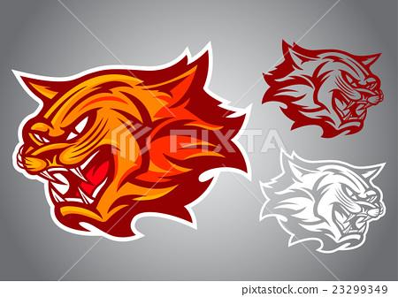 cat red logo vector emblem 23299349