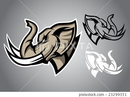 elephant head linethai logo vector emblem 23299351