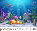 sea, ocean, vector 23301180