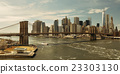 Brooklyn Bridge and downtown Manhattan 23303130