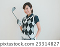 Japanese woman golfer , housewife 23314827