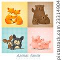 Set of cute animal family portrait 23314904