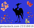 Fabulous large bird with Golden feathers. Japanese 23316616