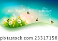 Happy summer holidays background with flowers 23317156
