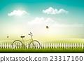 summer, vector, meadow 23317160