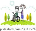 Senior couple in wheelchair 23317576