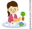 咖啡廳 可愛 咧嘴笑 23324106