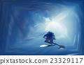 潛水員 水下 跳水 23329117
