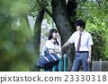 肖像 公園 異性夫婦 23330318