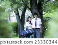 肖像 公園 異性夫婦 23330344