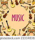 Music background with classic, ethnic instruments 23334636