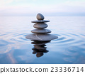 Balanced Zen stones in water  23336714