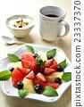 breakfast, yogurt, grapefruits 23337370
