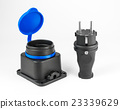 Electric rubber plug with socket 23339629