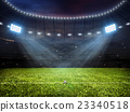 Soccer football stadium with floodlights 23340518