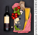 pasta, wine, vegetable 23340853