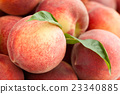 Fresh peaches background. 23340885