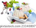 Yogurt with berries. 23340897