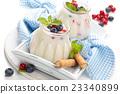 Fresh yogurt with berries. 23340899
