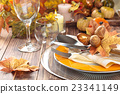 Thanksgiving dinner decoration. 23341149