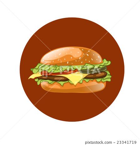Burger. Cheeseburger illustration. Hamburger. 23341719