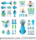 infographic Squid And Sea Food Set 23343045