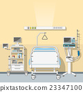 Illustration an intensive care unit 23347100