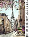 Street in paris - illustration concept 23351121