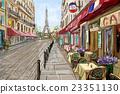 Street in paris - illustration concept 23351130