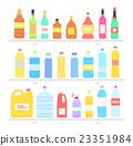 Bottle Set Design Flat Oil and Beverage 23351984