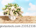Jasmine, bouquet, in, a, white, vase 23352336