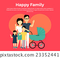 Happy Family Concept Banner Design 23352441