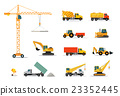 Construction Machinery Set Design Flat 23352445