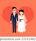 Newlyweds Couple Design Banner Concept 23352462