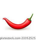 Red chili pepper isolated. EPS 10 23352525