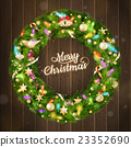 Christmas wreath. EPS 10 23352690