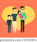 Happy Family Concept Banner Design 23352841
