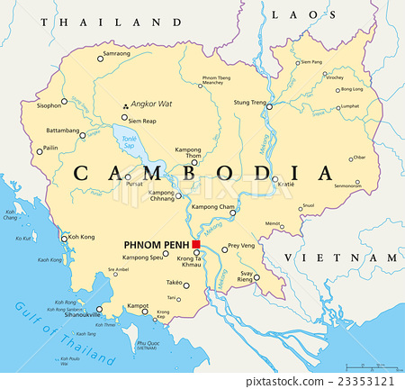 Cambodia Political Map 23353121